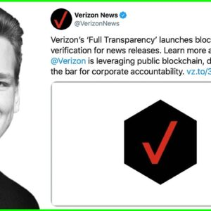 Verizon to log Press Releases on Ethereum!! Very Interesting Use Case!!
