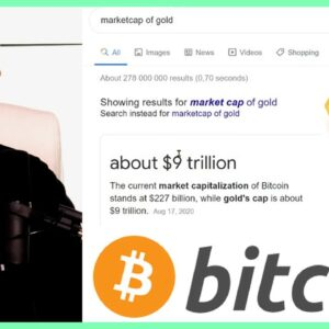 Could Bitcoin Surpass Market Cap of Gold??