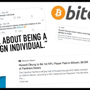 NFL STAR PAID IN BITCOIN!!