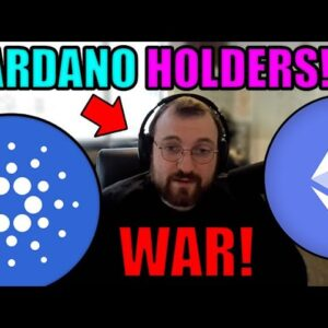 Cardano OVER Ethereum! Charles Hoskinson DECLARES WAR on ETH & Issues WARNING to ALL ADA Holders!