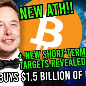 BREAKING: NEW BITCOIN ATH!! ELON MUSK BUYS $1.5 BILLION BITCOIN!! + Next 2 Targets Revealed!! 👀