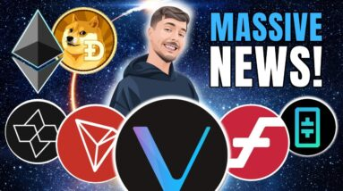 HUGE! MR. BEAST Invests in AIOZ! VeChain, THETA, Tron Pumping and Ethereum ETF + Coinbase Staking 🚀
