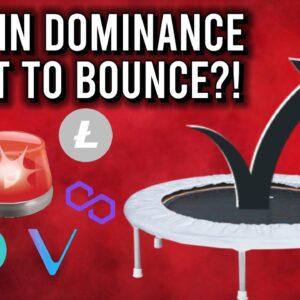 ATTENTION ALTCOIN HOLDERS: BITCOIN DOMINANCE ABOUT TO BOUNCE? 😐