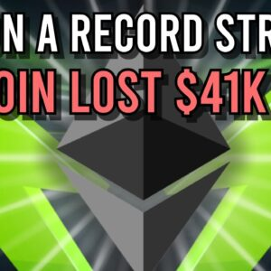 BITCOIN COULDN'T HOLD $41K... ETH RECORD STREAK!! 🤯 WHAT´S NEXT?!